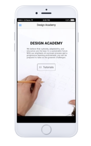 Academy Mobile Interface