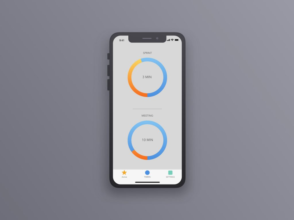 IPhone X UI Timer